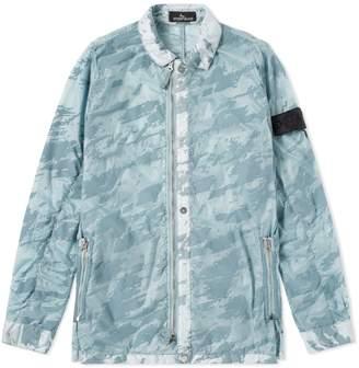 Stone Island Shadow Project Lucid Flock Garment Dyed Shirt Jacket