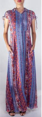 En Creme Paisley Button-Up Dress