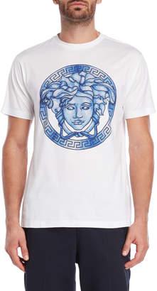 Versace White Logo Tee