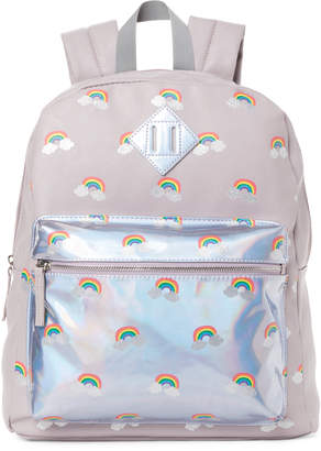 Omg! Accessories Lilac Holographic Rainbow Backpack
