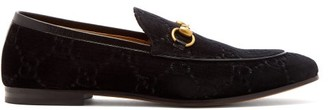 Gucci Jordaan Velvet Loafers - Mens - Black