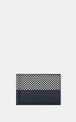 Thom Browne Men's Checked Leather Money Clip Billfold