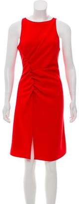Halston Sleeveless Ruffle-Accented Dress