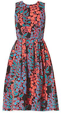 Carolina Herrera Women's Sleeveless Floral Tea Dress