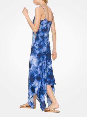 Michael Kors Tie-Dye Silk-Georgette Handkerchief Dress