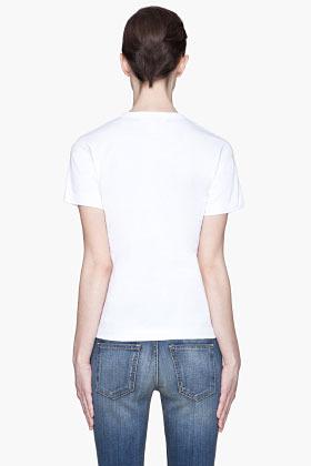 Comme des Garcons White Black heart Emblem T-Shirt