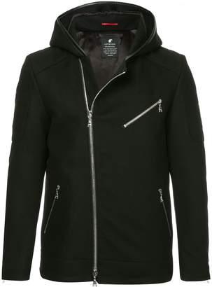 Loveless asymmetric hooded jacket