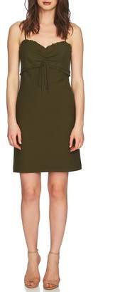 CeCe Dani Ruched Eyelet Knit Dress