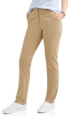 Wonder Nation Juniors Plus School Uniform Stretch Twill Skinny Pants