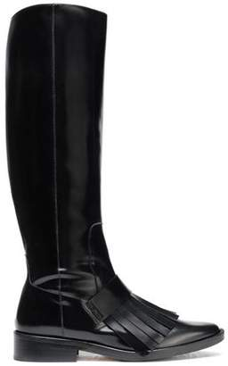 Castaner Fringed Patent-Leather Boots
