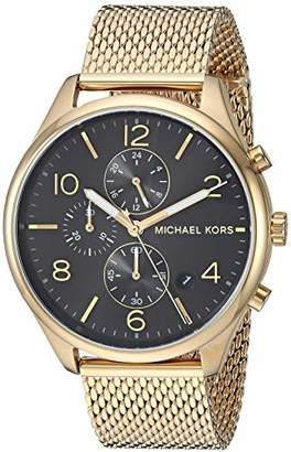 Michael Kors Men's 'Merrick' Quartz Stainless-Steel-Plated Watch