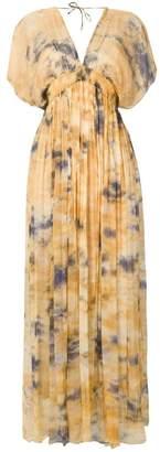 Mes Demoiselles long tie-dye dress
