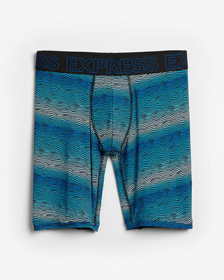 Express Zigzag Moisture-Wicking Performance Extended Boxer Briefs