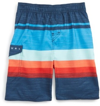 Toddler Boy's Rip Curl Golden Hour Board Shorts $32 thestylecure.com