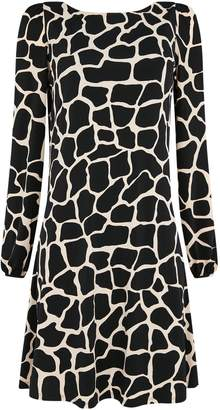 Wallis Black Animal Print Swing Dress