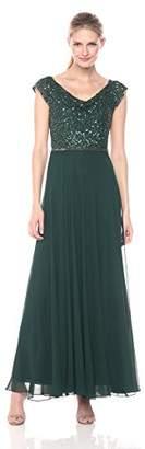 J Kara Women's Beaded Empire Waist Gown