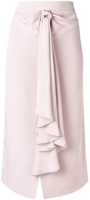 Giorgio Armani knot detail silk skirt