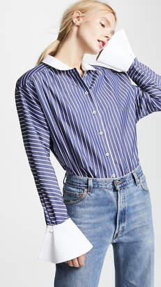 Marc Jacobs Stripe Button Down with Cuffs