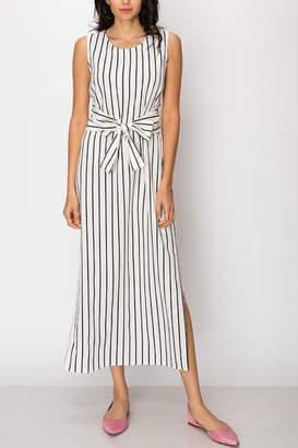 Double Zero White Striped Dress