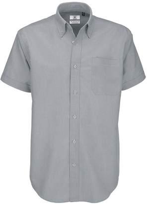 175c38fde3b386 BC B&C Mens Oxford Short Sleeve Shirt / Mens Shirts