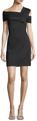 Helmut Lang Asymmetric Fitted Mini Dress