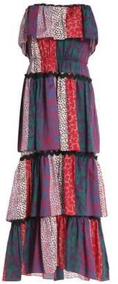 Sonia Rykiel Tiered Printed Cotton-Jersey Midi Dress