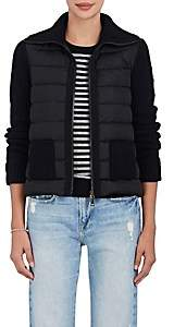 Moncler Women's Down-Quilted & Wool-Cashmere Sweater - Black