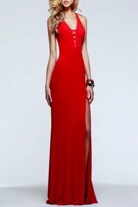 Faviana Sleek Red Dress