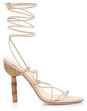 Cult Gaia Women's Soleil Lace-Up Leather Sandals