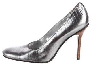 Dolce & Gabbana Embossed Leather Pumps