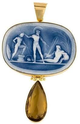 Tagliamonte Classica Porcelain Cameo Pendant