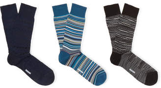 Missoni Three-Pack Cotton-Blend Socks - Men - Multi