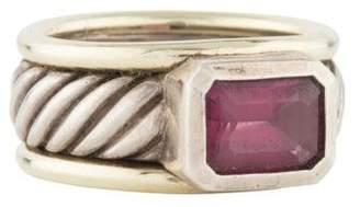 David Yurman Rhodolite Garnet Cable Ring