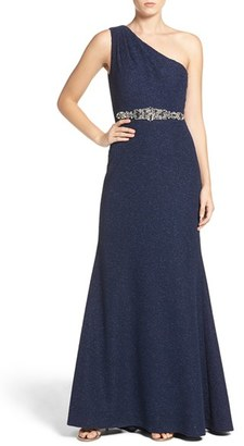 Women's Eliza J Embellished Knit Gown $208 thestylecure.com