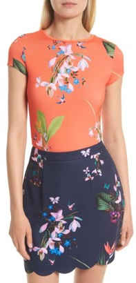 Women's Ted Baker London Hanyah Tropical Oasis Tee $79 thestylecure.com