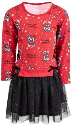 Disney Toddler Girls Mickey & Minnie Mouse Layered-Look Tutu Dress
