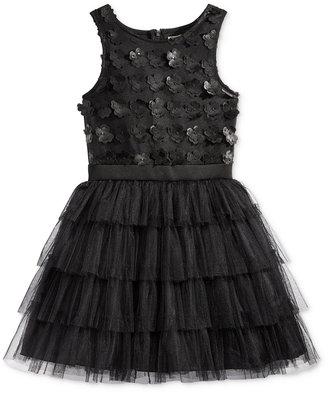 Nanette Lepore Satin-Floral 3D Special Occasion Dress, Big Girls (7-16) $98.50 thestylecure.com