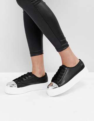 ASOS DILLAN Lace Up Toe Cap Sneakers $40 thestylecure.com