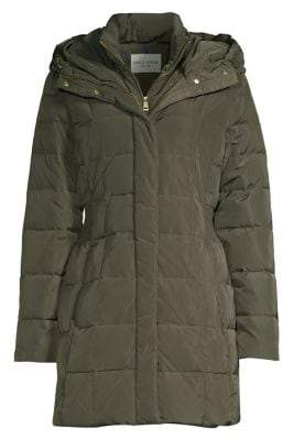 Cole Haan Zip Front Down Filled Puffer Coat
