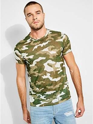 GUESS Men's Short Sleeve WYNN CAMO Shirt