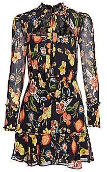 Alexis Women's Morgana Floral Cutout Mini Dress
