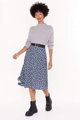 Nasty Gal Flower Time is Now Floral Midi Skirt