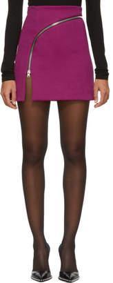 Alexander Wang Pink Zipper Miniskirt