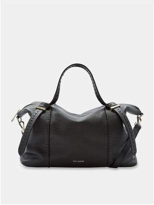 Ted Baker Oellie Knotted Handle Large Leather Tote Bag - Black