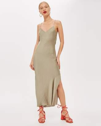 PETITE Plain Satin Slip Dress