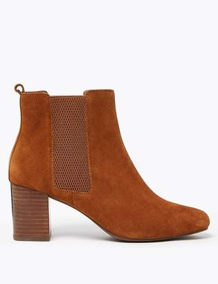 Marks and Spencer Suede Almond Toe Ankle Boots