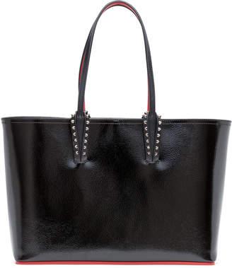 Christian Louboutin Cabata Small Black Patent Leather Tote Bag