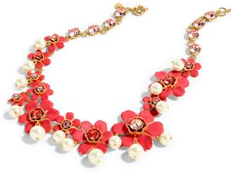 J.Crew Imitation Pearl & Crystal Floral Statement Necklace