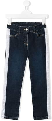 Aigner Kids logo trim jeans