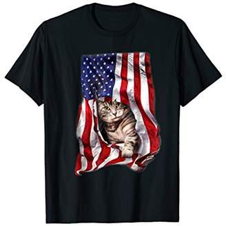 USA American Flag Cat Kitty Kitten Shirt Funny 4th July Gift